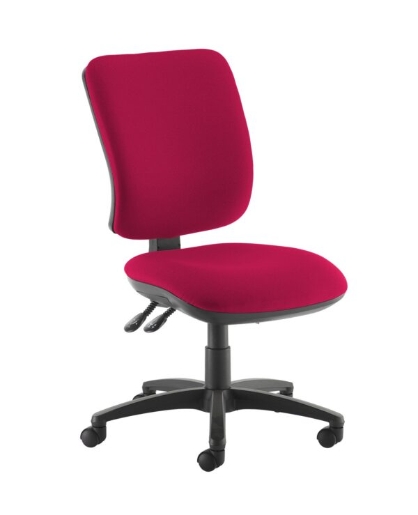 Senza high back operator chair with no arms - Diablo Pink - Furniture