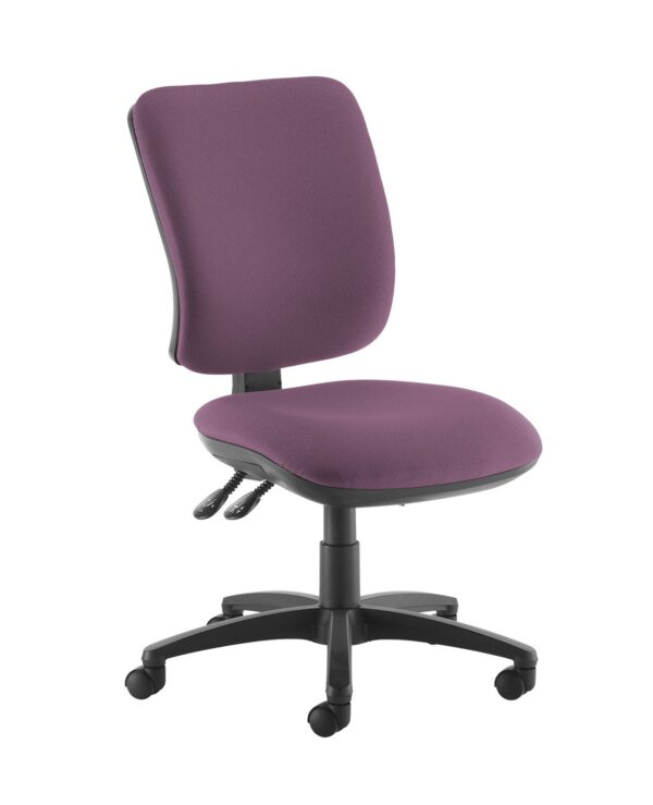 Senza high back operator chair with no arms - Bridgetown Purple - Furniture