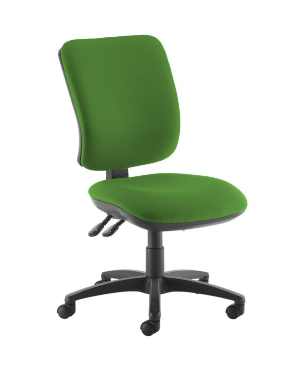 Senza high back operator chair with no arms - Lombok Green - Furniture
