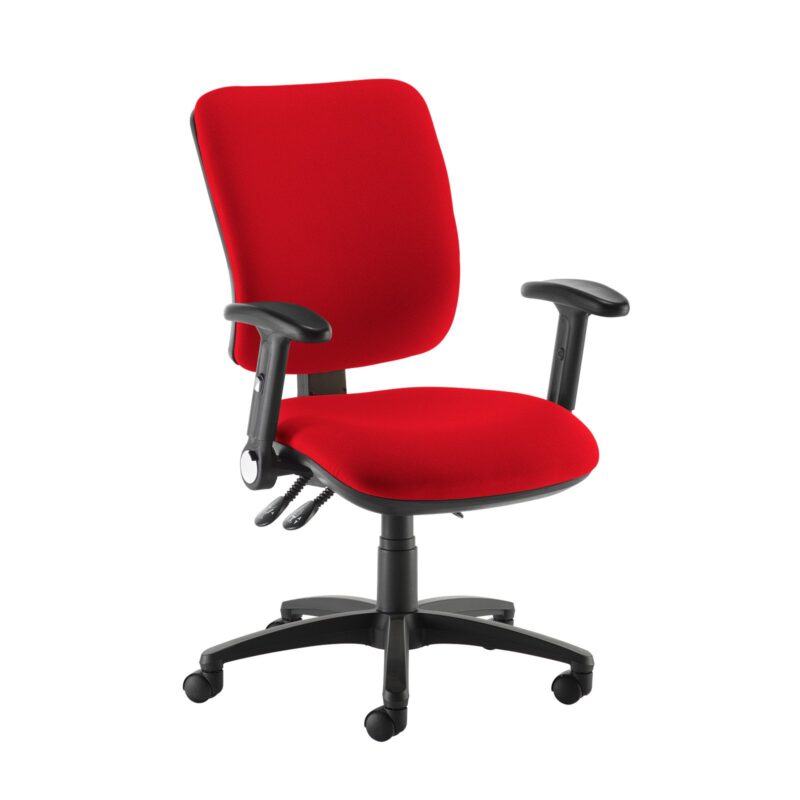 Senza high back operator chair with folding arms - Panama Red - Furniture