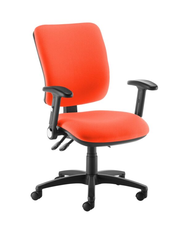 Senza high back operator chair with folding arms - Tortuga Orange - Furniture