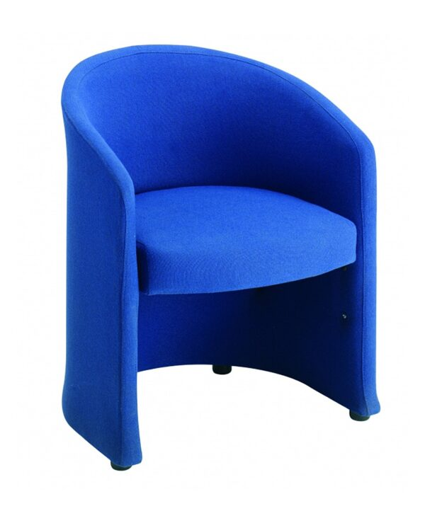 Slender fabric reception single tub chair 620mm wide - blue - Furniture