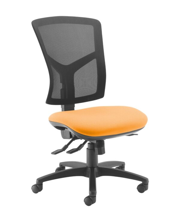 Senza high mesh back operator chair with no arms - Solano Yellow - Furniture