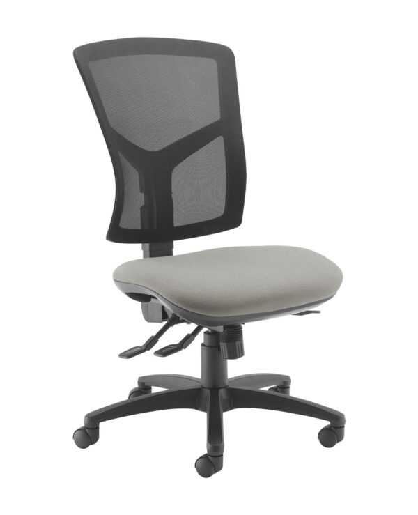 Senza high mesh back operator chair with no arms - Slip Grey - Furniture