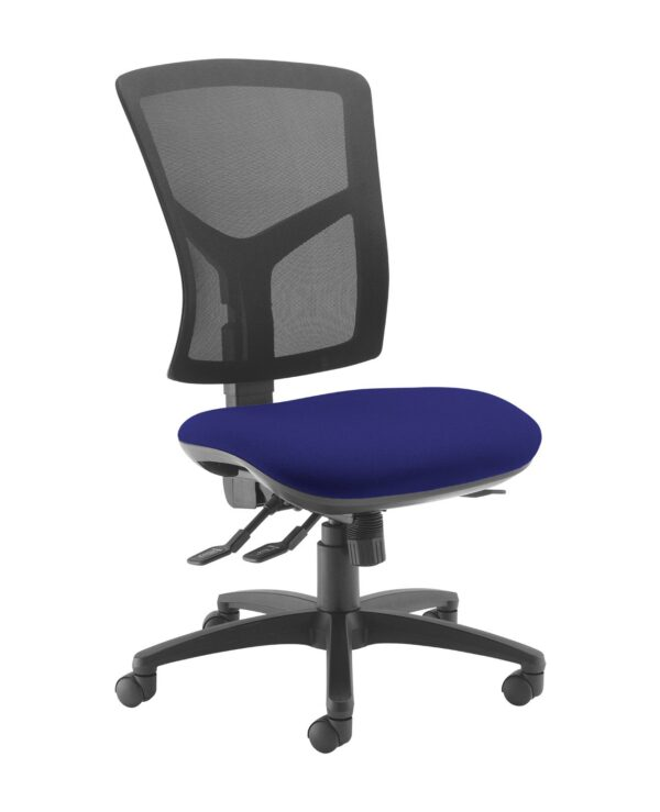 Senza high mesh back operator chair with no arms - Ocean Blue - Furniture