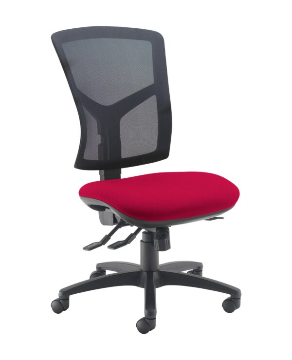 Senza high mesh back operator chair with no arms - Diablo Pink - Furniture