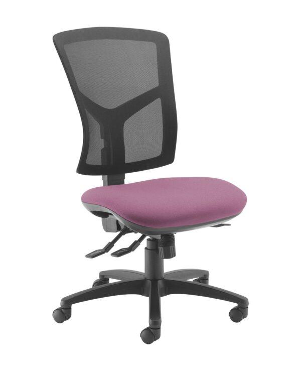 Senza high mesh back operator chair with no arms - Bridgetown Purple - Furniture