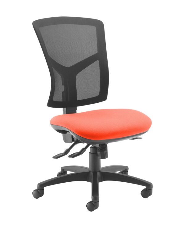 Senza high mesh back operator chair with no arms - Tortuga Orange - Furniture