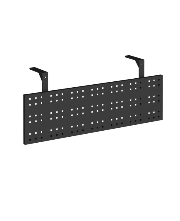Steel perforated modesty panel for use with 1200mm single desks - black - Furniture