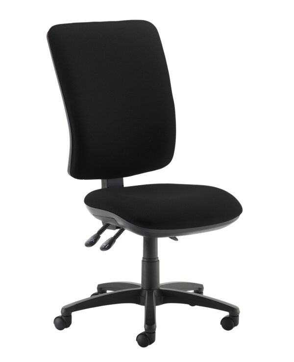 Senza extra high back operator chair with no arms - Havana Black - Furniture