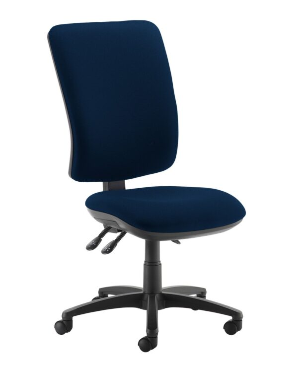 Senza extra high back operator chair with no arms - Costa Blue - Furniture