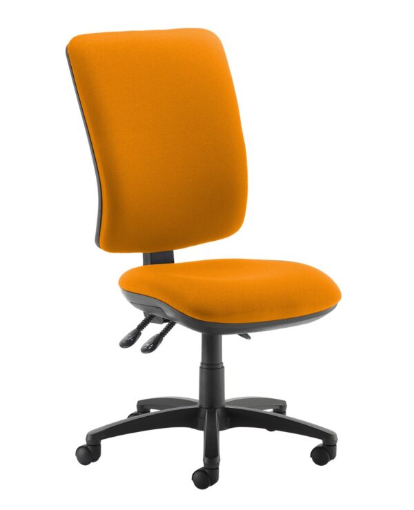 Senza extra high back operator chair with no arms - Solano Yellow - Furniture