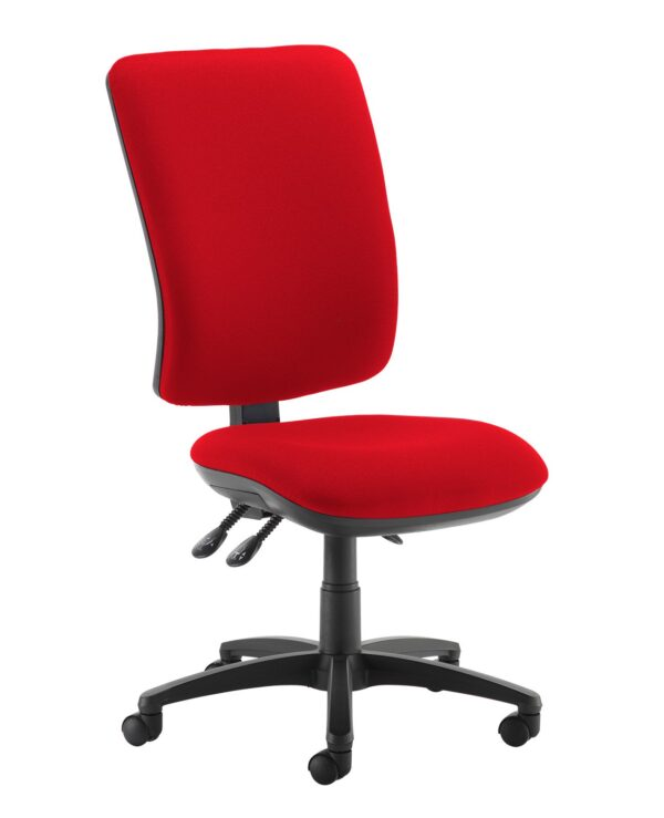 Senza extra high back operator chair with no arms - Panama Red - Furniture