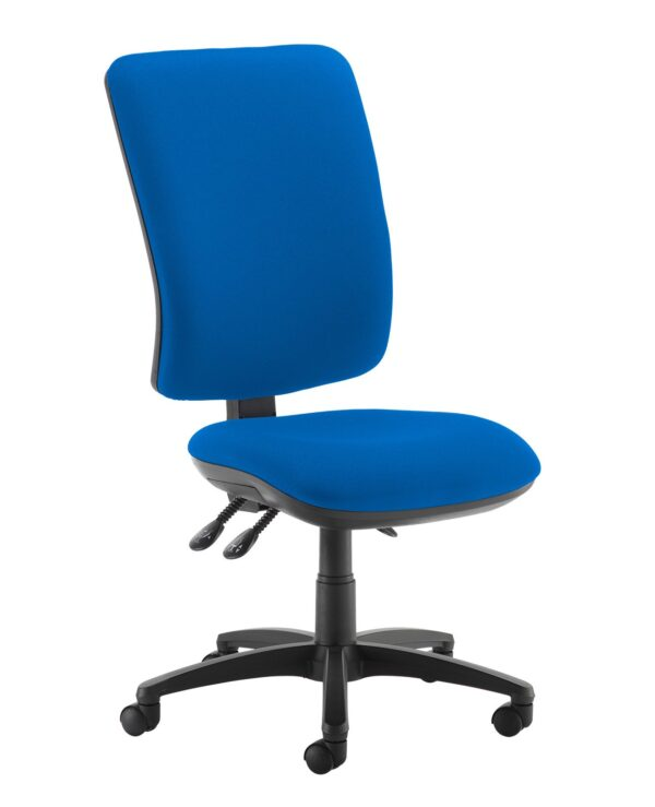 Senza extra high back operator chair with no arms - Scuba Blue - Furniture