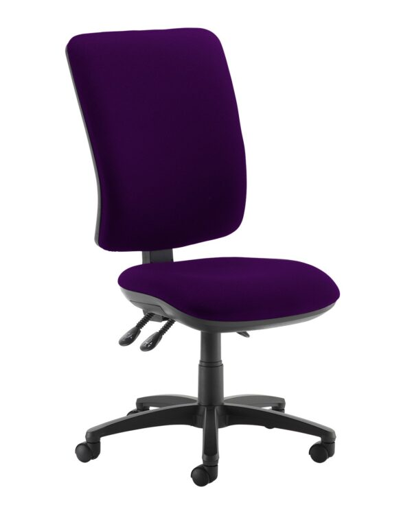Senza extra high back operator chair with no arms - Tarot Purple - Furniture