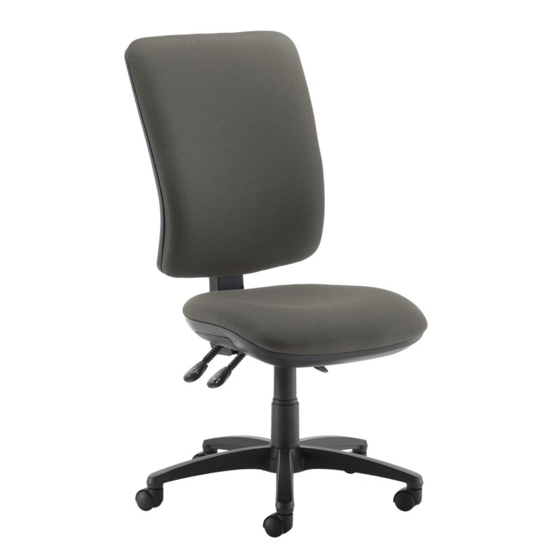 Senza extra high back operator chair with no arms - Slip Grey - Furniture