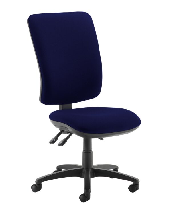 Senza extra high back operator chair with no arms - Ocean Blue - Furniture