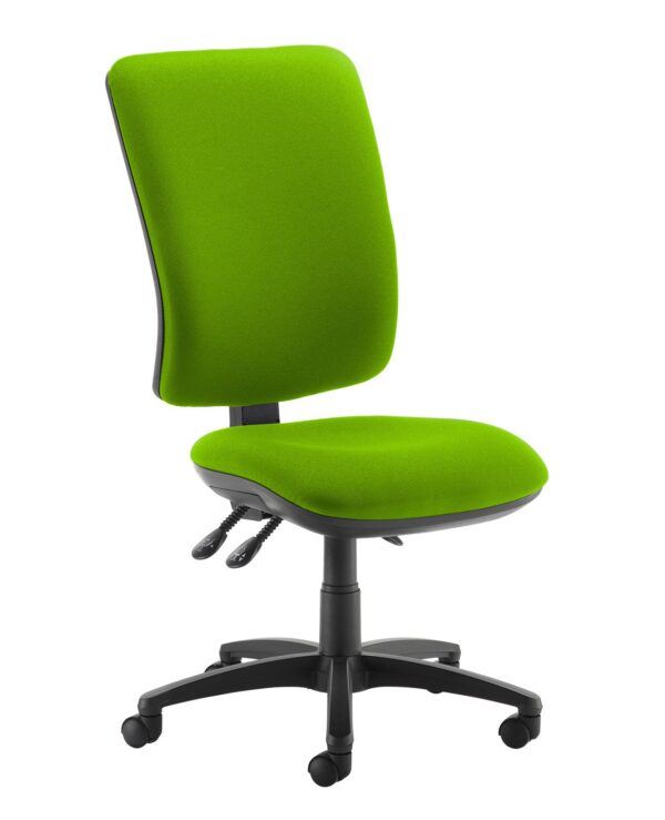 Senza extra high back operator chair with no arms - Madura Green - Furniture