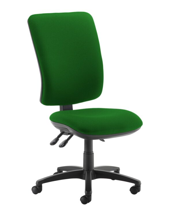 Senza extra high back operator chair with no arms - Lombok Green - Furniture