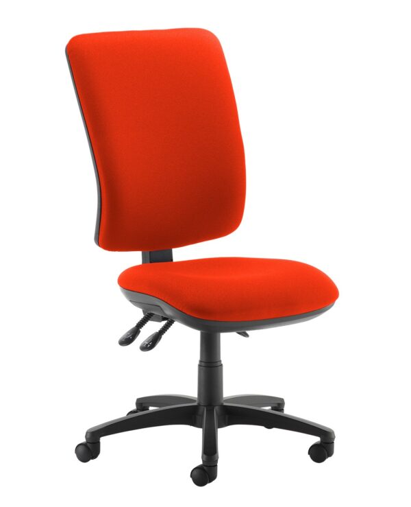 Senza extra high back operator chair with no arms - Tortuga Orange - Furniture