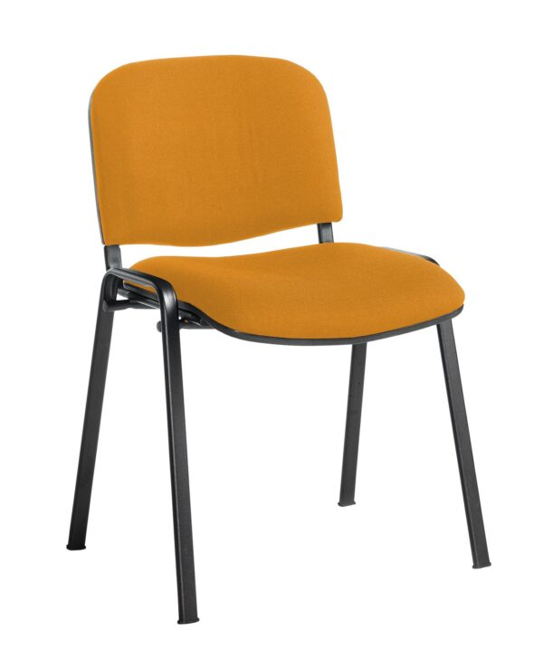 Taurus meeting room stackable chair with black frame and no arms - Solano Yellow - Furniture