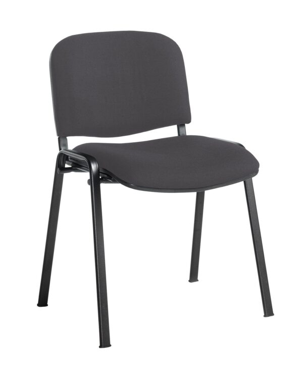 Taurus meeting room stackable chair with black frame and no arms - Blizzard Grey - Furniture