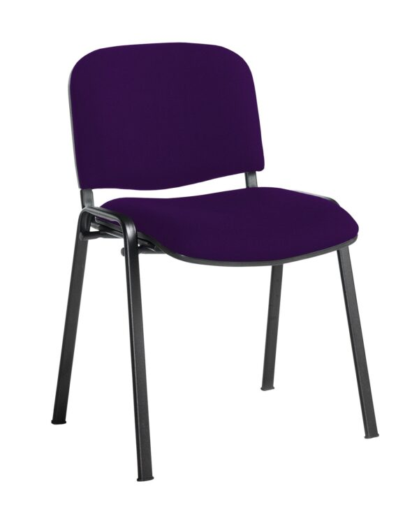 Taurus meeting room stackable chair with black frame and no arms - Tarot Purple - Furniture