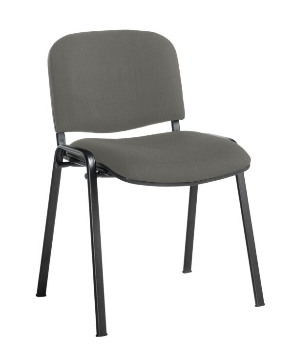 Taurus meeting room stackable chair with black frame and no arms - Slip Grey - Furniture