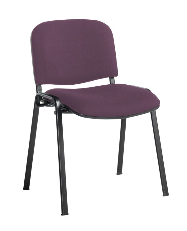 Taurus meeting room stackable chair with black frame and no arms - Bridgetown Purple - Furniture