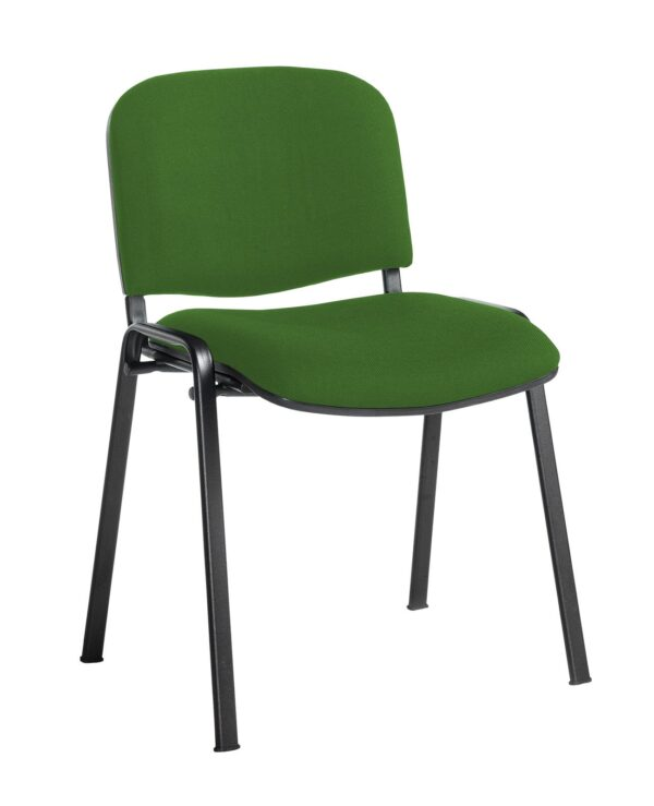 Taurus meeting room stackable chair with black frame and no arms - Lombok Green - Furniture