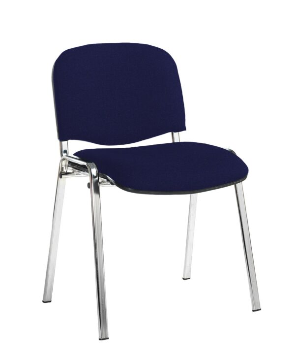 Taurus meeting room stackable chair with black frame and no arms - Ocean Blue - Furniture