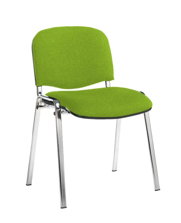 Taurus meeting room stackable chair with black frame and no arms - Madura Green - Furniture