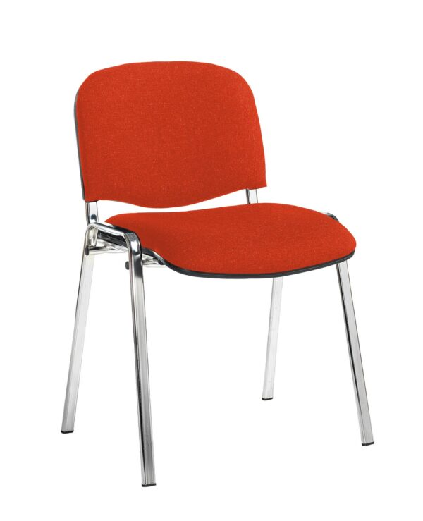 Taurus meeting room stackable chair with black frame and no arms - Tortuga Orange - Furniture