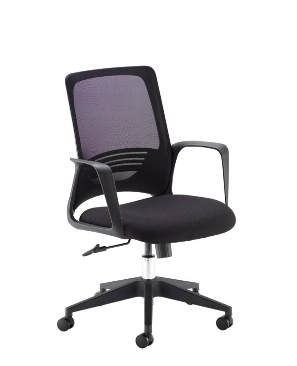 Toto black mesh back operator chair with black fabric seat and black base - Furniture
