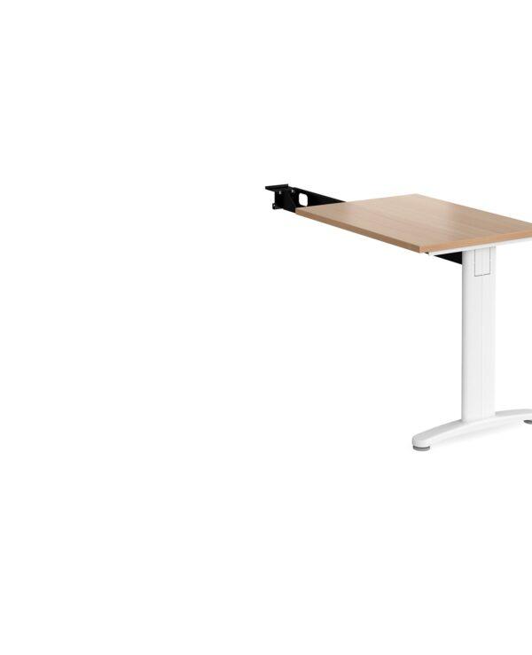 TR10 single return desk 800mm x 600mm - silver frame, beech top - Furniture
