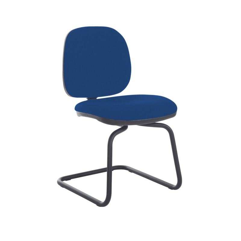 Jota fabric visitors chair with no arms - Curacao Blue - Furniture