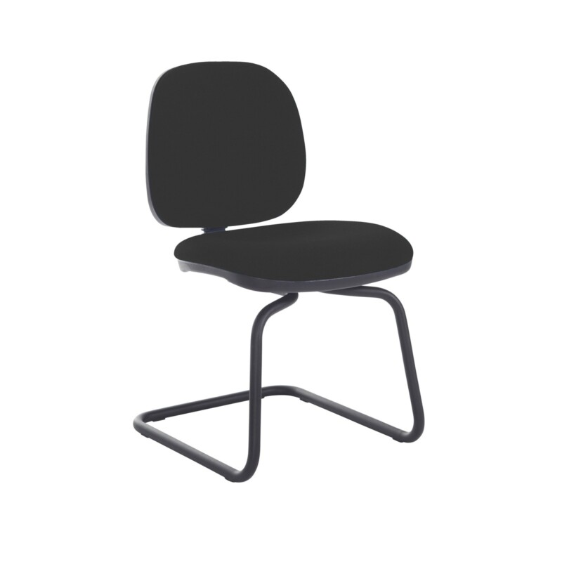 Jota fabric visitors chair with no arms - Havana Black - Furniture