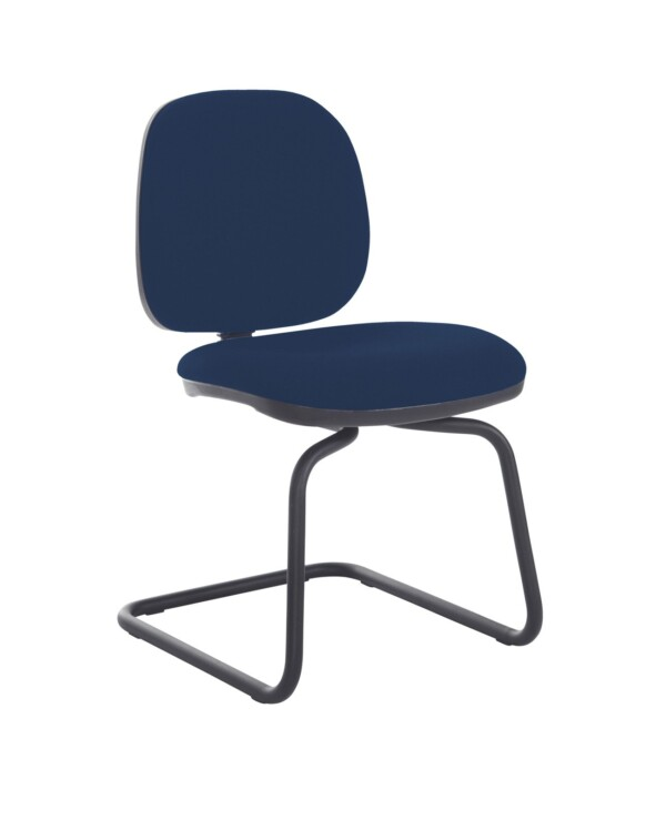 Jota fabric visitors chair with no arms - Costa Blue - Furniture