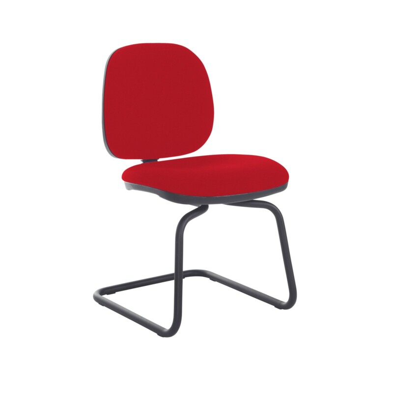 Jota fabric visitors chair with no arms - Panama Red - Furniture