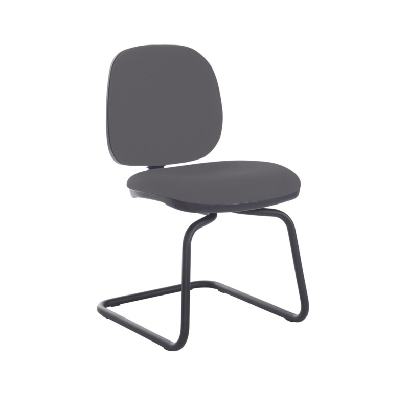 Jota fabric visitors chair with no arms - Blizzard Grey - Furniture
