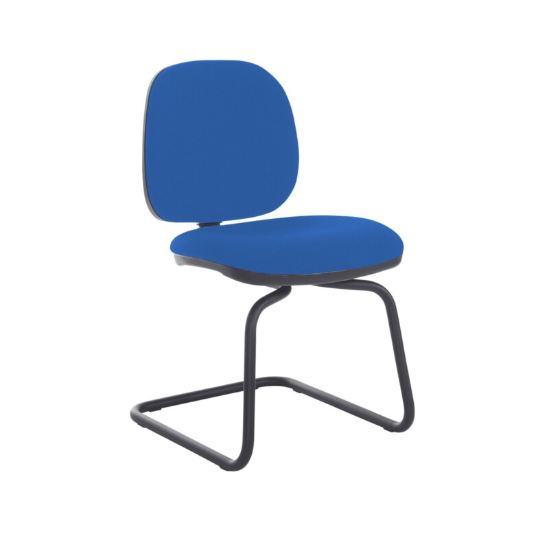 Jota fabric visitors chair with no arms - Scuba Blue - Furniture