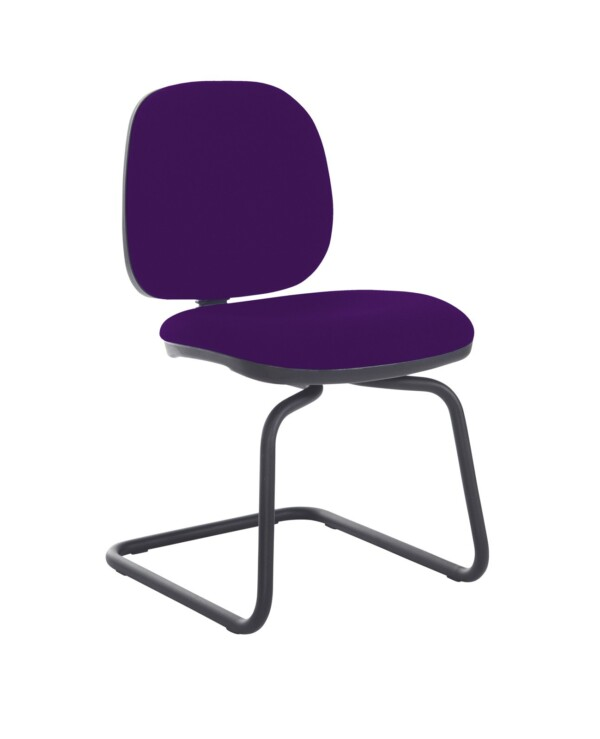 Jota fabric visitors chair with no arms - Tarot Purple - Furniture