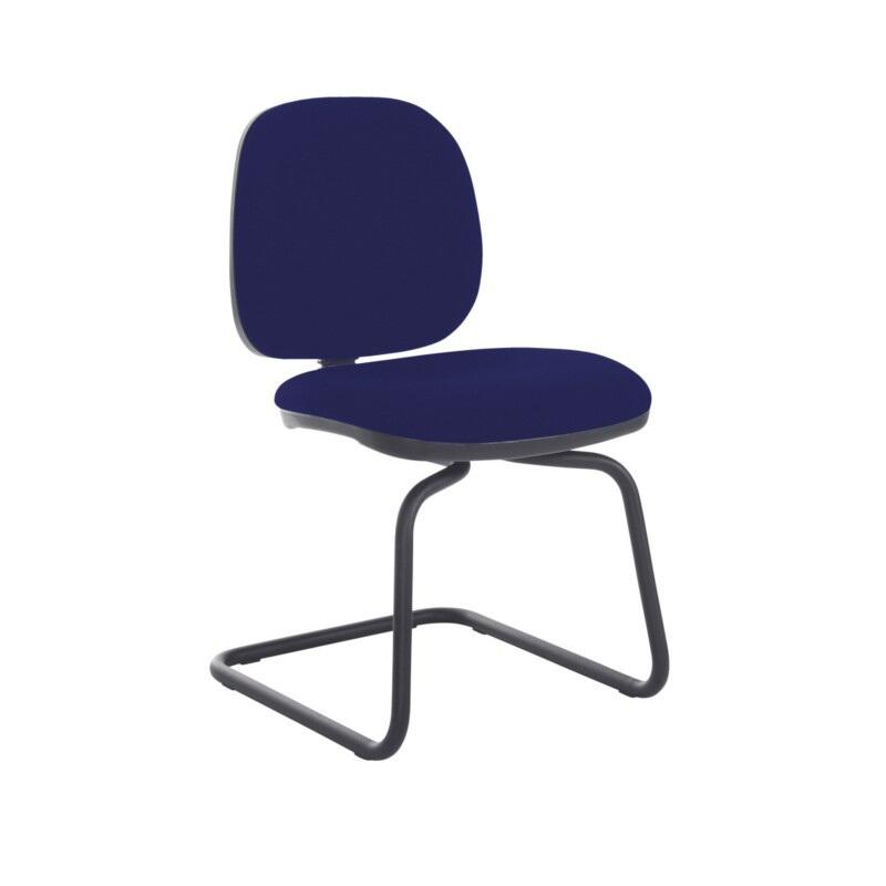 Jota fabric visitors chair with no arms - Ocean Blue - Furniture