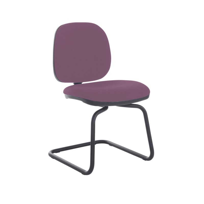 Jota fabric visitors chair with no arms - Bridgetown Purple - Furniture