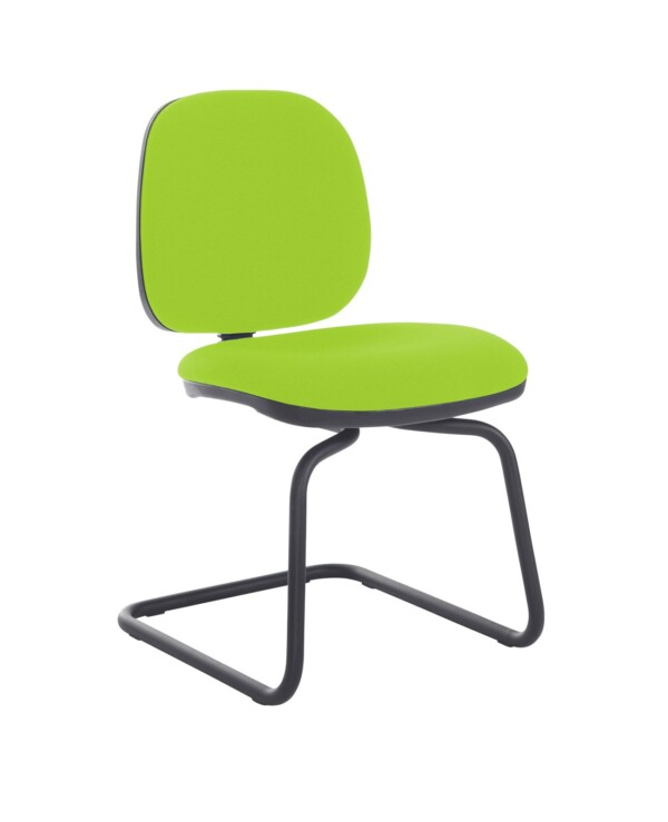 Jota fabric visitors chair with no arms - Madura Green - Furniture