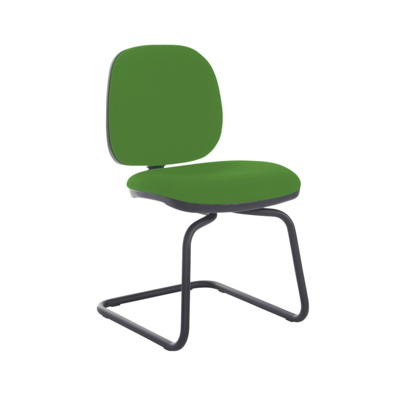 Jota fabric visitors chair with no arms - Lombok Green - Furniture