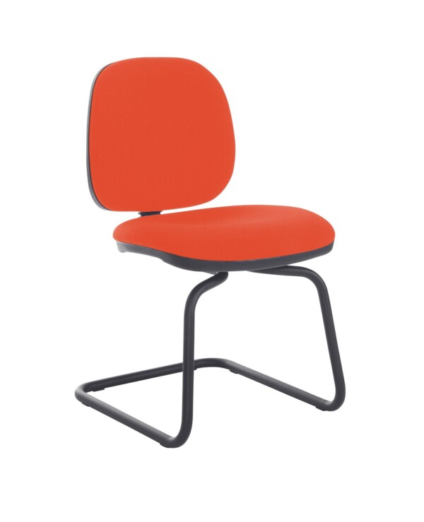 Jota fabric visitors chair with no arms - Tortuga Orange - Furniture