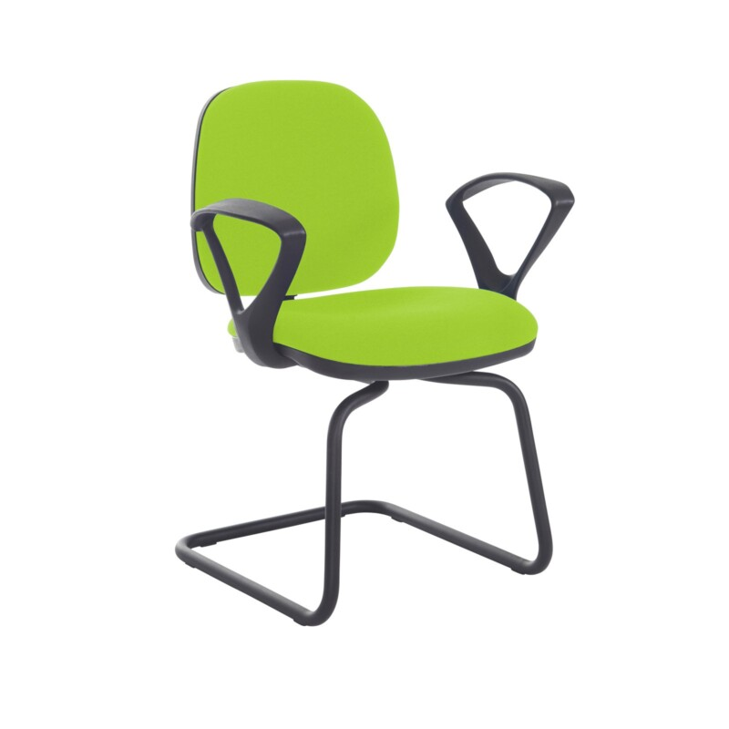 Jota fabric visitors chair with fixed arms - Madura Green - Furniture