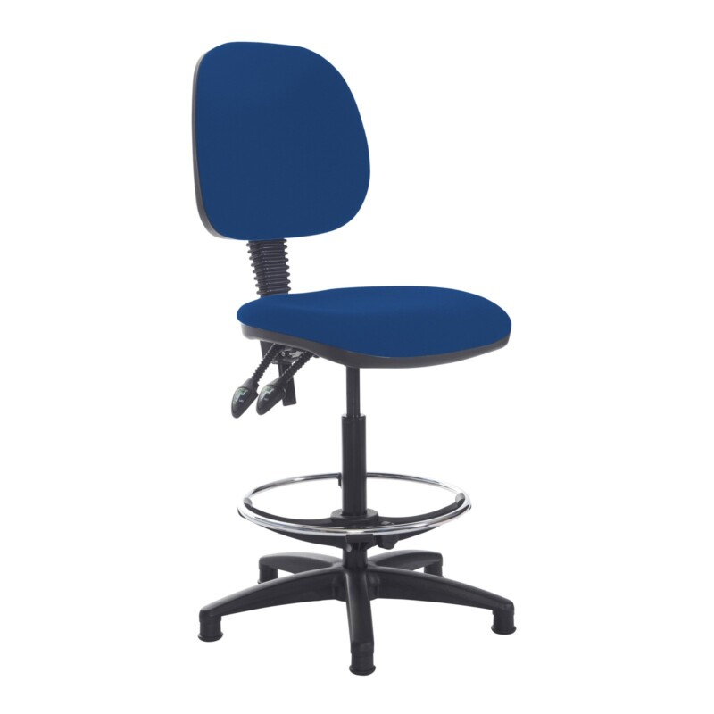 Jota draughtsmans chair with no arms - Curacao Blue - Furniture