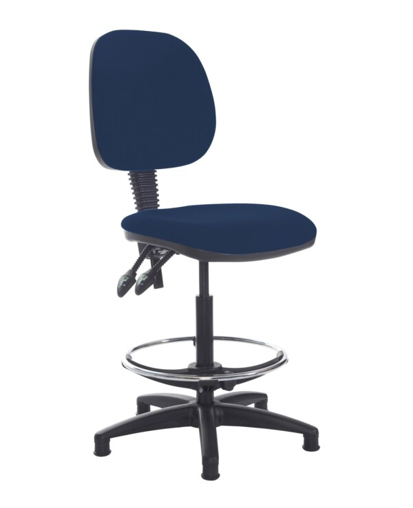 Jota draughtsmans chair with no arms - Costa Blue - Furniture